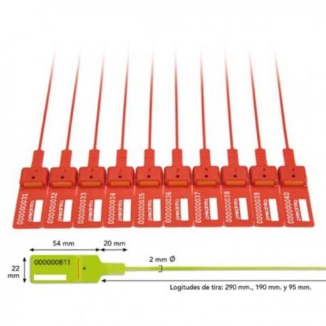 10 CENT. PRECINTOS TEN-LOK 3 pp  95mm 54x22 C/