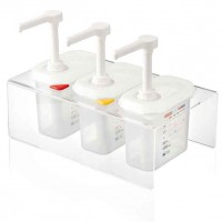 SET 3 DISPENSADORES SALSAS 1,5 L. 01363