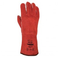 Guantes soldador en serraje rojo 408/40 t/10