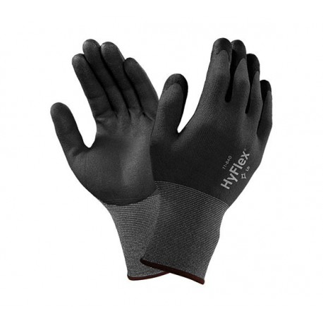 GUANTES FORTIX NEGRO GRIS ANSELL