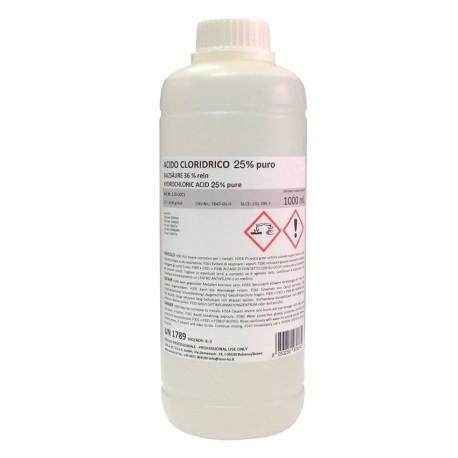 ACIDO CLORHIDRICO 25%  1000 cc.