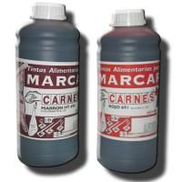 Tinta alimentaria azul en botellas de 1 litro
