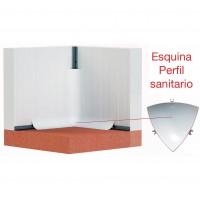 ESQUINA INTERIOR PARA PERFIL SANITARIO PVC