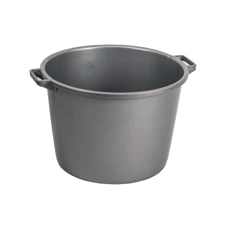 Barreño plastico gris plata 18 l. 39x21