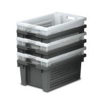 Cubeta rejada gris 600x400x300 mm