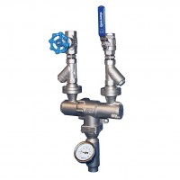 Mezclador agua vapor inox m34