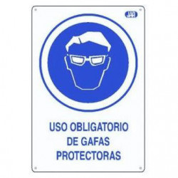 CARTEL PVC USO GAFAS...