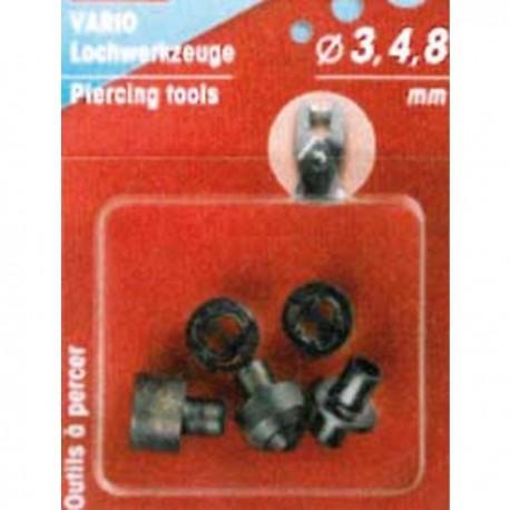 Perforadores para tenaza 3-4-8 mm