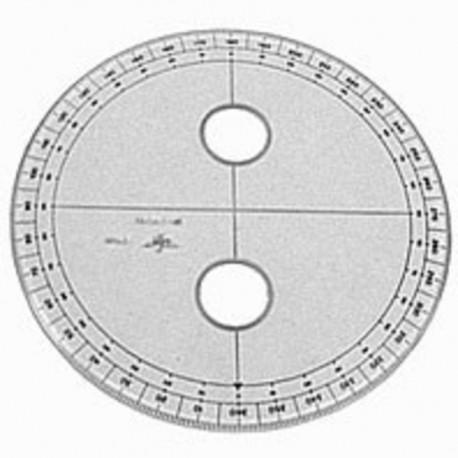 Transp.ortador angulos 25 cm 125225