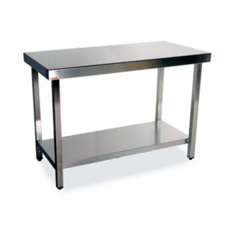 Mesa central con estante 2400x700x900 mm