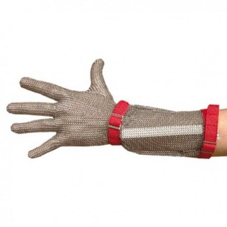 Guante malla correa textil manguito inox 15 cm. t/1