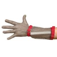 Guante malla correa textil manguito inox 15 cm. t/5
