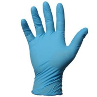 GUANTES LATEX AZUL SIN POLVO 100 UDS.