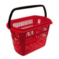 Cesta compra roja 49x32x49 cm. 1118