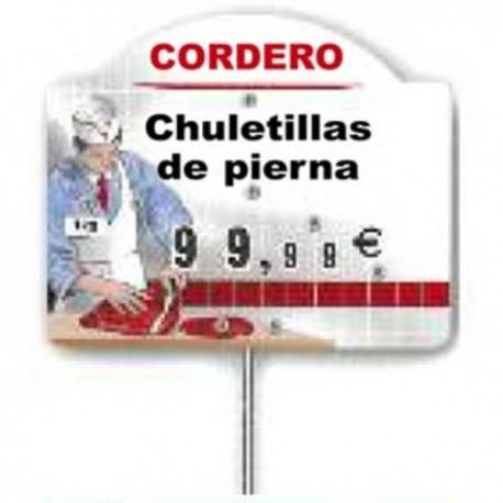 CARTEL PRECIOS CARNE C/TEXTO 501