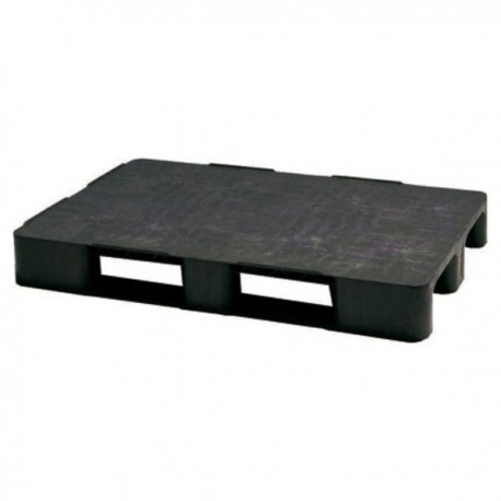 PALET LISO 1200x 800x140 NEGRO 2 PATINES