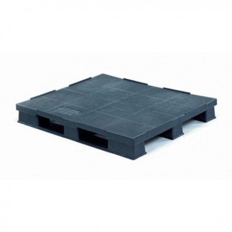 PALET LISO 1200x1000x150 NEGRO 3 PATINES