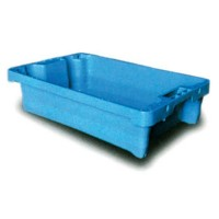 CUBETA APILABLE ENCAJABLE AZUL 600x400x155 mm. 2001