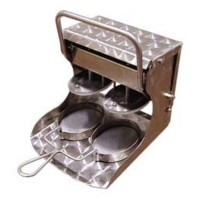 HAMBURGUESERA MANUAL INOX 2...